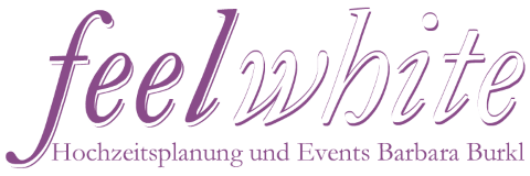 Logo feel white, Weddingplaner Stuttgart