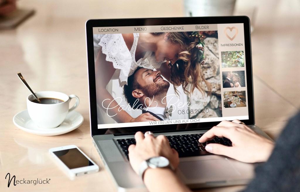 Wedding Website von Neckarglück